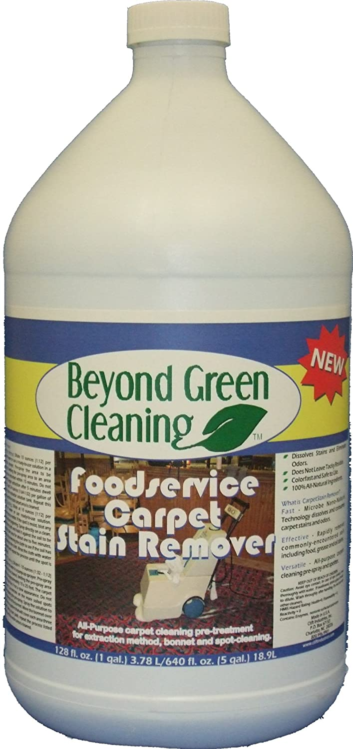 Clift Industries 9611-004 Beyond Green Cleaning Foodservice Carpet Stain Remover, 1-Gallon Bottle (Pack of 4)