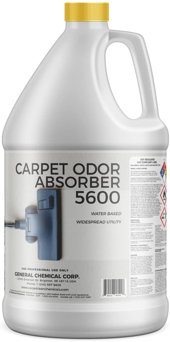 CarpetGeneral Carpet Odor Absorber Solution 5600 Deodorizer | Neutralize Odors | Concentrated Formula | Residential & Commercial Use | Multi Purpose | (1 Gallon)