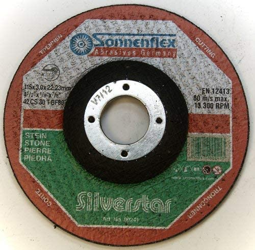 Sonnenflex Silverstar F 41 Cutting Discs for Stone Box contents: 1 x 115 x 3 x 22,23 MM CS 30 T-BF