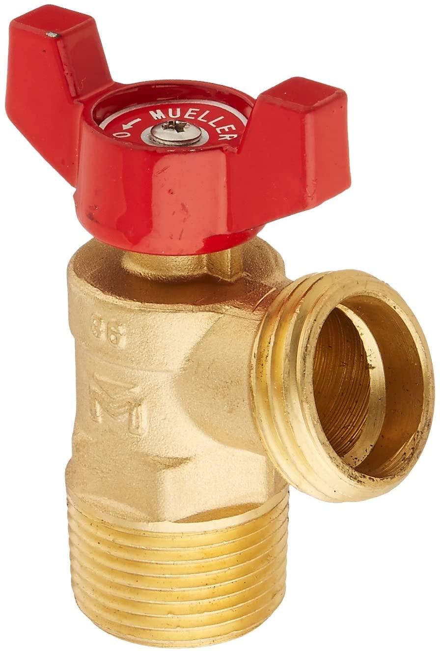 Mueller Industries 102-054HN Boiler Drain, 3/4-Inch