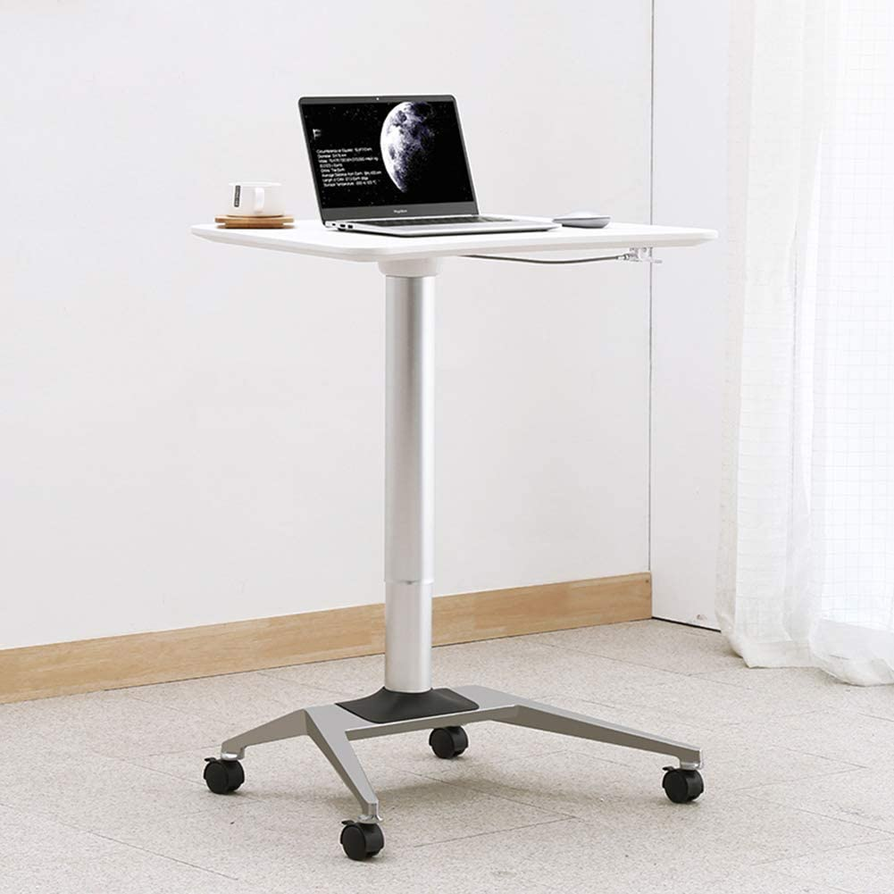 FCSFSF Sitting Stand Computer Desk Cart with Mouse Pad Table. Household Moving Bedside Table. Lazy Bed Desk. Adjustable Sofa Laptop Table. Moving Desk