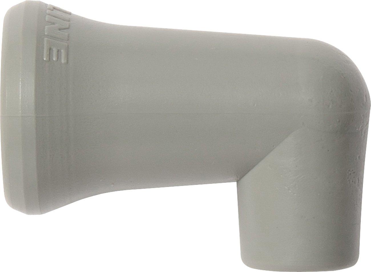 Loc-Line Coolant Hose Component, Gray Acetal Copolymer, 90 Degree Nozzle, 1/4