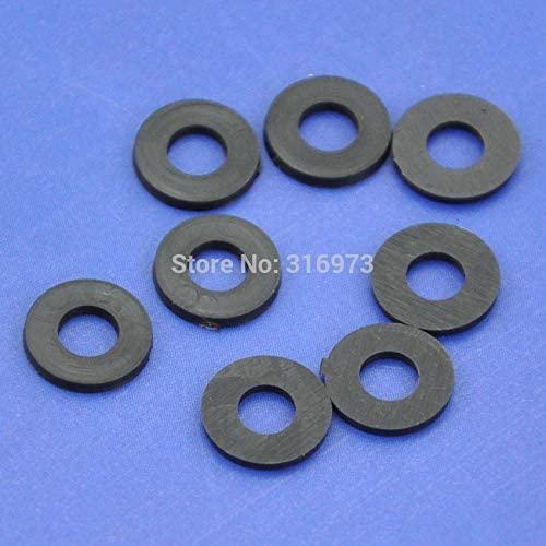 Ochoos (1000 pcs/lot) Black Flat Nylon Washer for M4 Screws, OD 9mm ID 4.1mm T 1.1mm