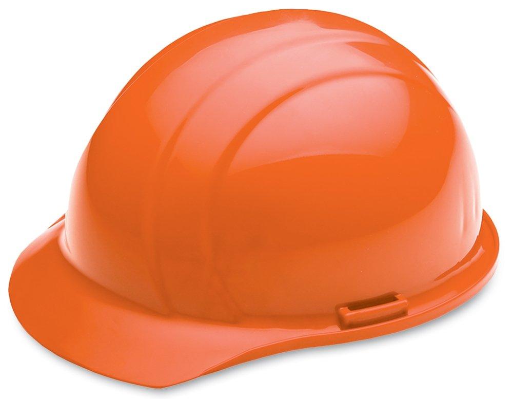 ERB Safety 039-19765 Americana Cap Style Hard Hat with Slide Lock, Polyethylene, Adjustable, Hi-Viz Orange