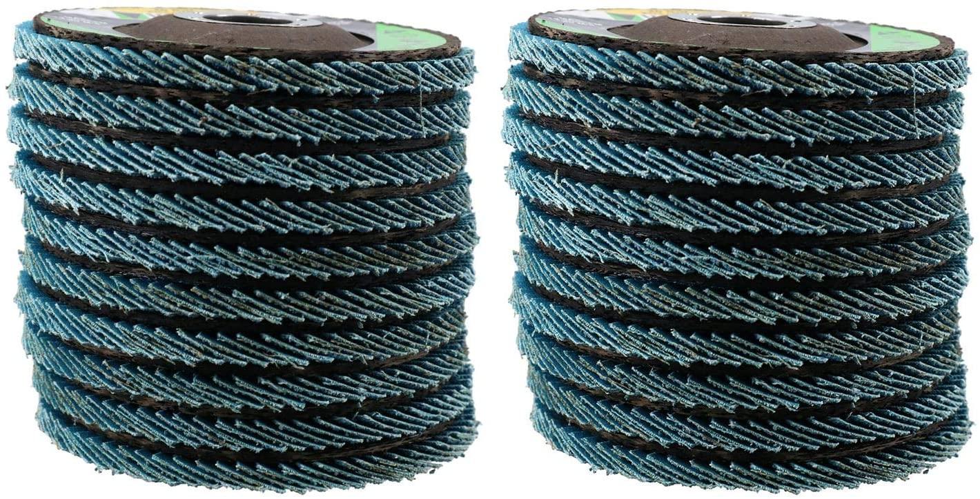 40 Grit Zirconium Flap Discs for Sanding Grinding Removal 4-1/2