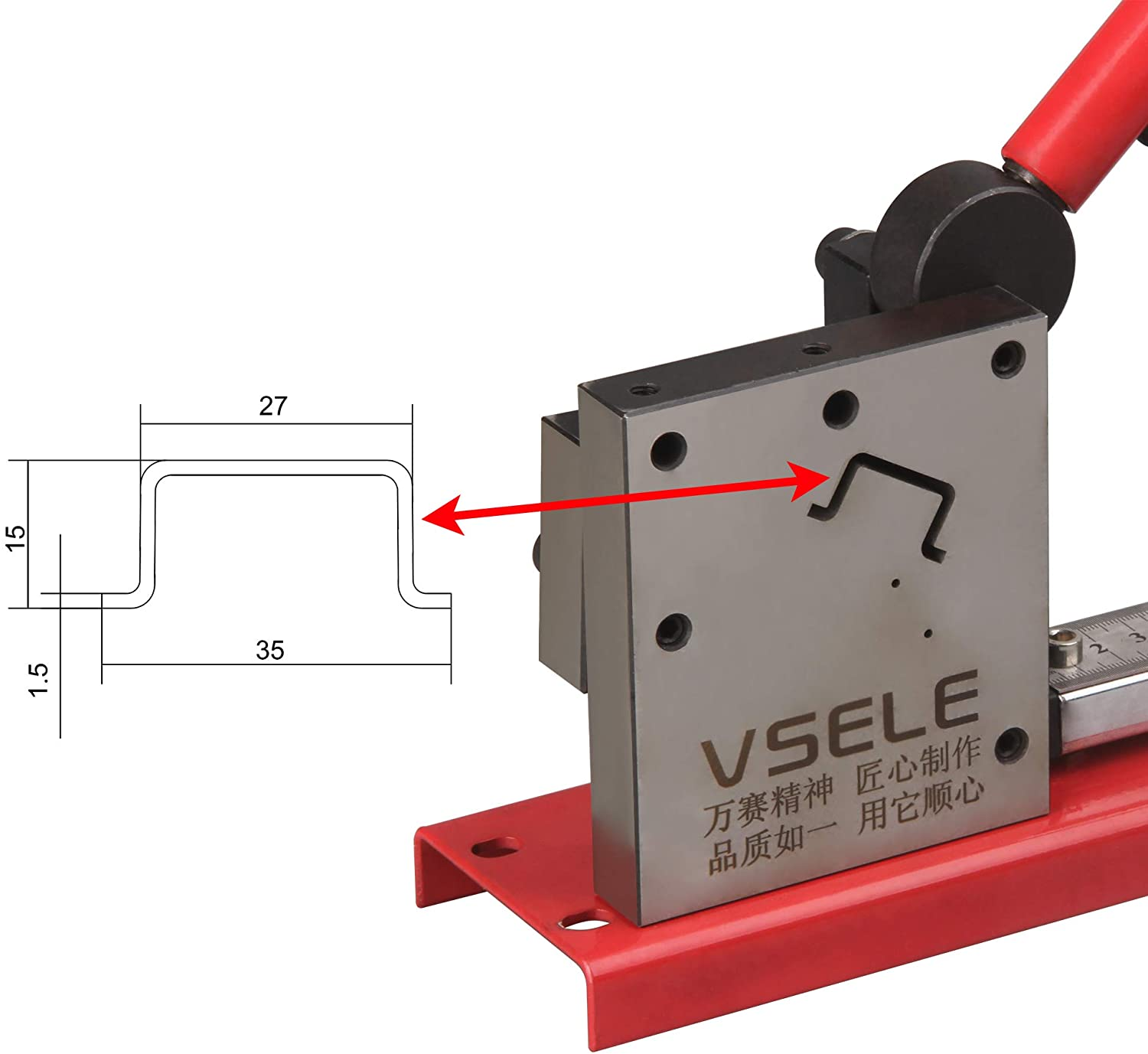DIN Rail Cutter Tool for Cutting with Guide and measuring ruler, cutting 35x15x1.5mm din rail
