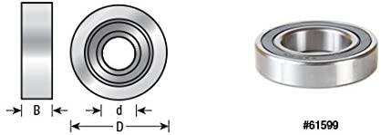 Amana Tool - 61615 Insert 4 Dia x 16mm Height Aluminum Rub Collar