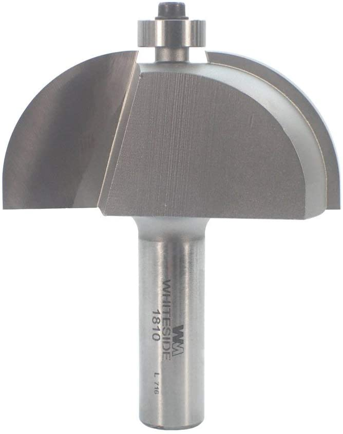Whiteside Router Bits 1810 Cove Bit with 1-Inch Radius, 2-1/2-Inch Large Diameter and 1-Inch Cutting Length