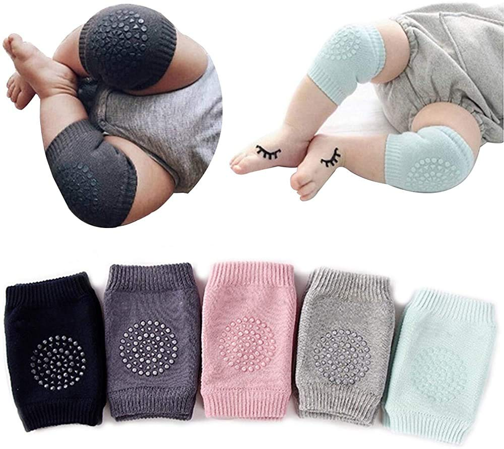 Baby Crawling Knee Pads 5 Pairs Toddler Leg Warmer Safety Protective Cover Toddlers Learn to Socks Children Short Kneepads