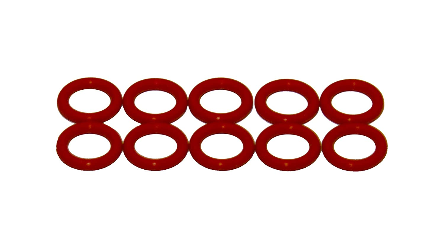 Sterling Seal ORSIL208x10 Number-208 Standard Silicone O-Ring has Excellent Resistance to Oxygen, Ozone and Sunlight, Vinyl Methyl Silicone, 70 Durometer Hardness, 5/8