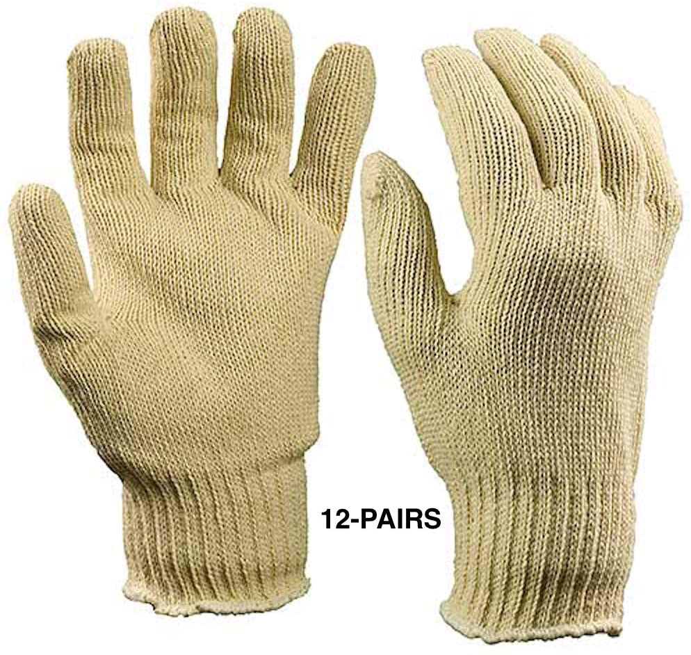 ArcMate Gloves, Stretch Knit Cotton Work Glove, Off-White, One Size Fits Most, 12 Pack (7719-12-FBA)
