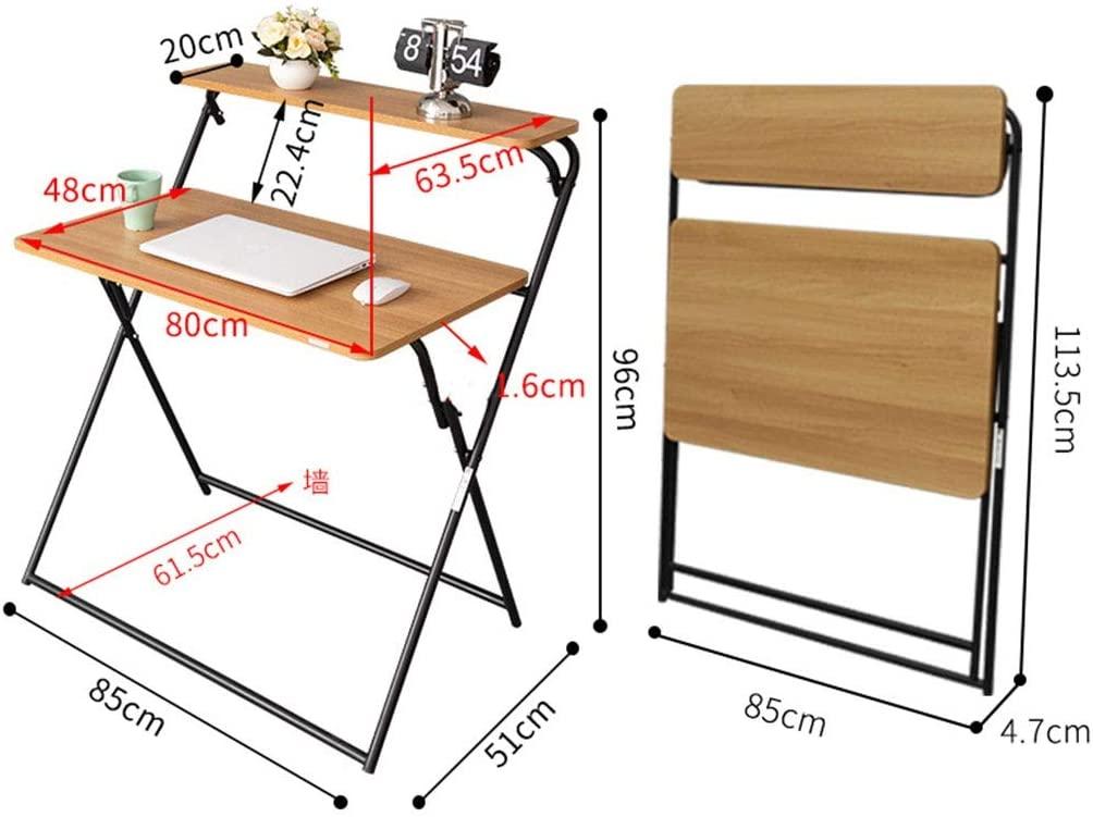 Folding Computer Desk Desktop Home Simple Bedroom economical Simple for Dormitory Study Desk Small Table Student desk8048cm 820 (Color : Black)