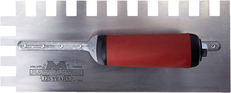 Marshalltown 781SD Notched Trowel 1/2 x 3/4 x 1/2-Inch Sq-Durasoft Handle