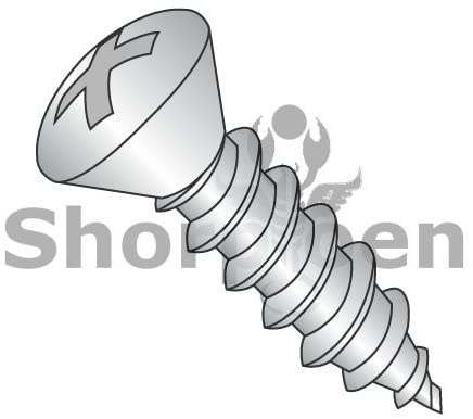 10-12X1 1/2 Phillips Oval Self Tapping Screw Type A Fully Threaded 18-8 Stainless Steel - Box Quantity 2000 by Shorpioen BC-1024APO188