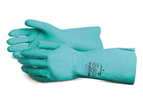 Superior NI3012 Unsupported Nitrile Glove, Work, Chemical Resistant, 0.012