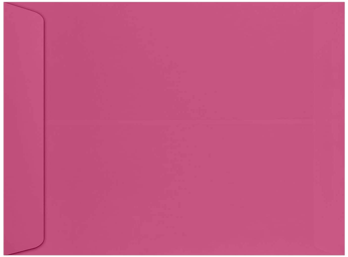 9 x 12 Open-End Envelopes in 80 lb. Magenta for Mailing a Business Letter, Catalog, Financial Document, Magazine, Pamphlet, 500 Pack (Pink)
