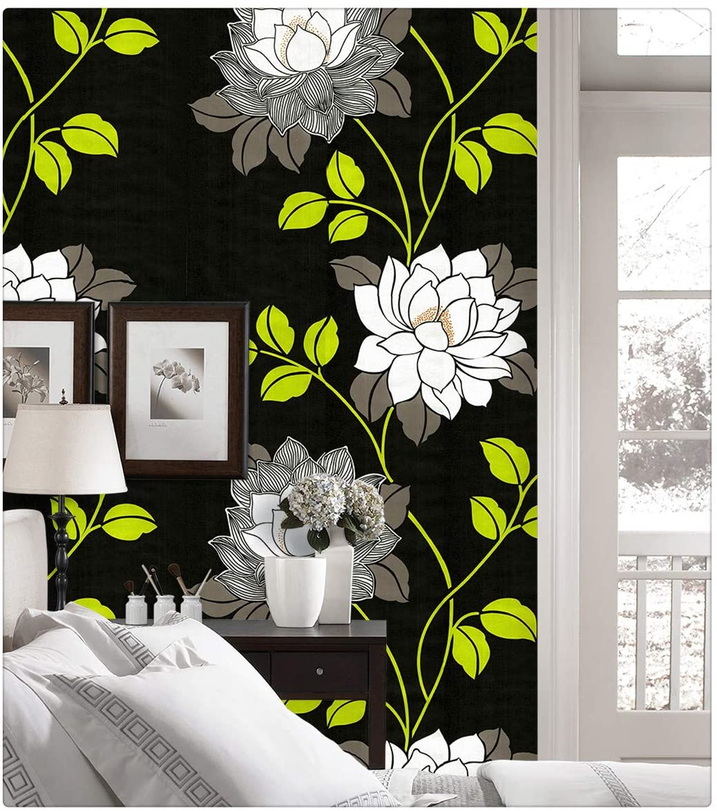 Dwin H1294 Peel and Stick Wallpaper Floral 17. 7'' x 118 inch Self Adhesive Paper for Bedroom Furniture-Easy to Clean,Durable, Waterproof Home