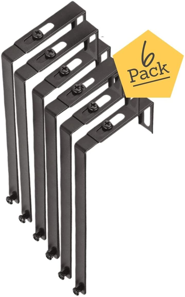1InTheOffice Cubicle Hangers, Adjustable, 6 Pack
