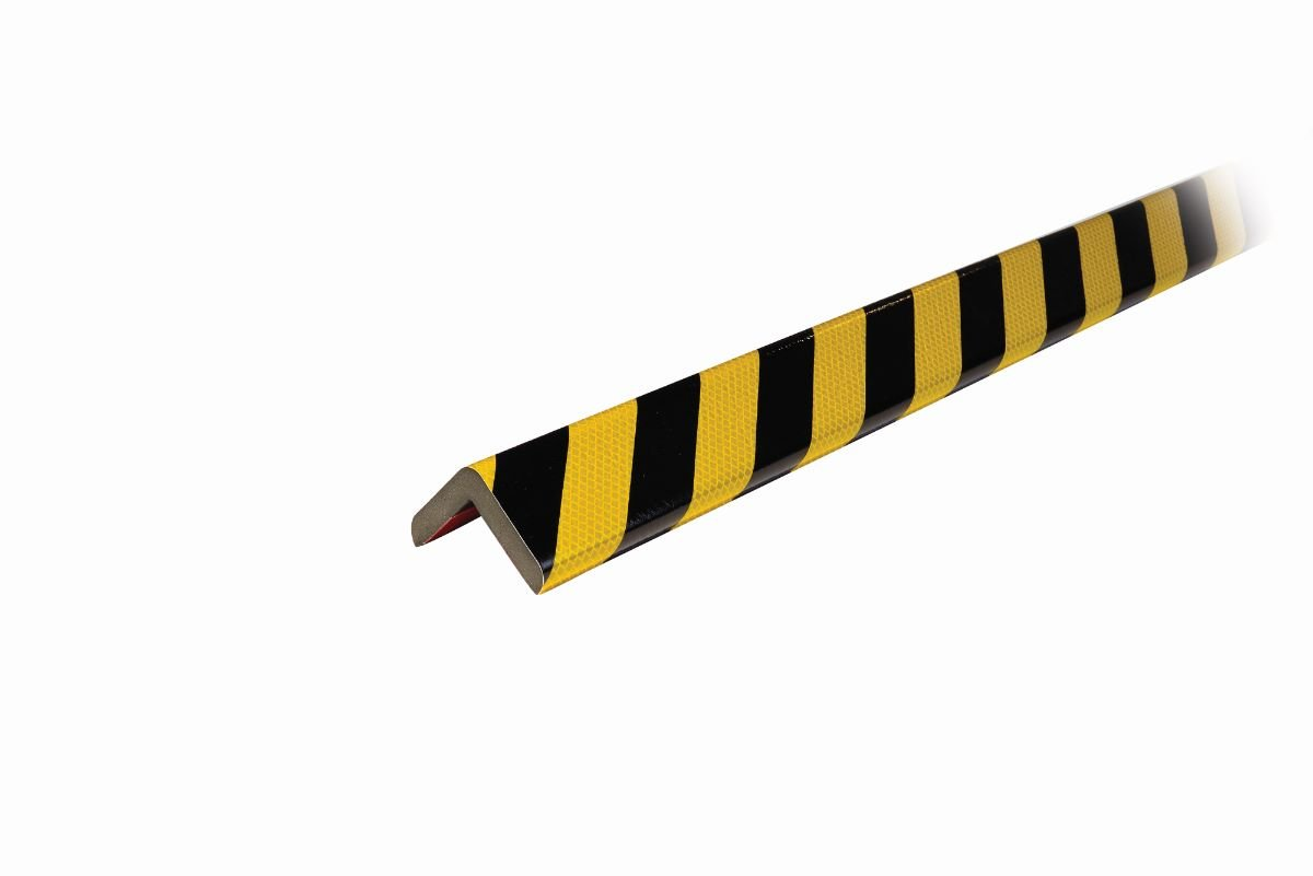 Knuffi Model H+ Corner Bumper Guard, 1M, Reflective Black/Yellow