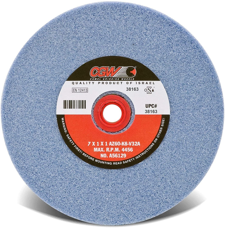 Bench Wheels, Blue Alum Oxide, Single Pack - 7x1x1