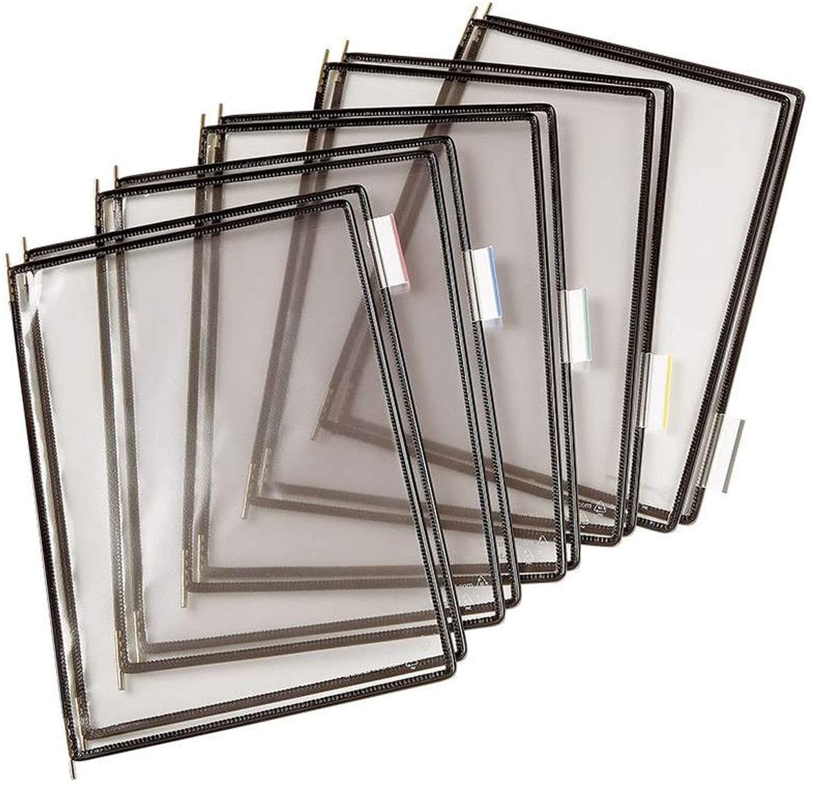 TARIFOLD Pivoting Pockets for Wall Desk or Rotary Systems Black-Framed 10/Pack (PO70)