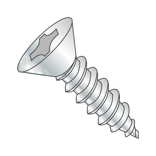 #14 x 3/4 Type AB Self-Tapping Screws/Phillips/Flat Head/Steel/Zinc (Carton: 4,000 pcs)