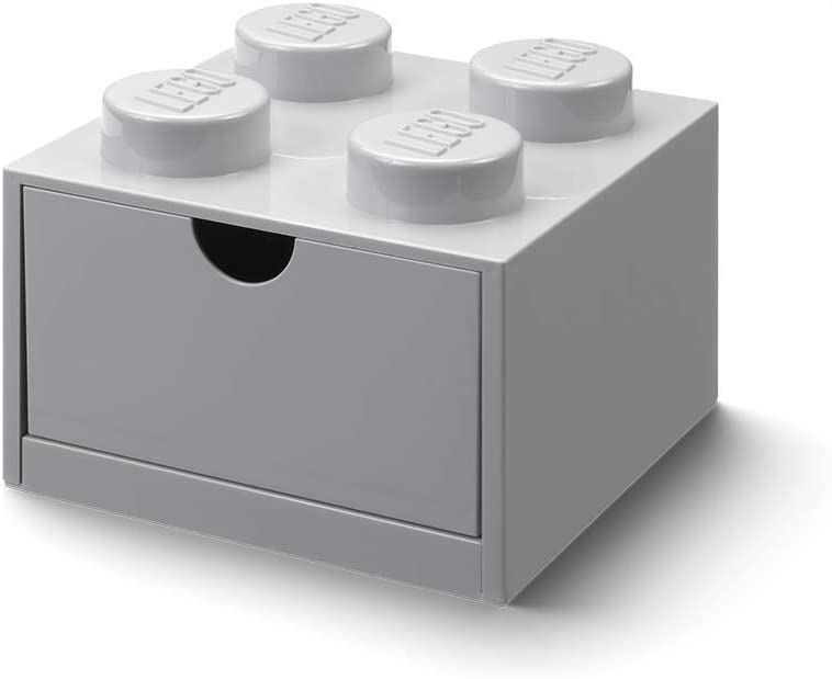 LEGO 40201740 Desk Drawer 4 Knobs, Grey