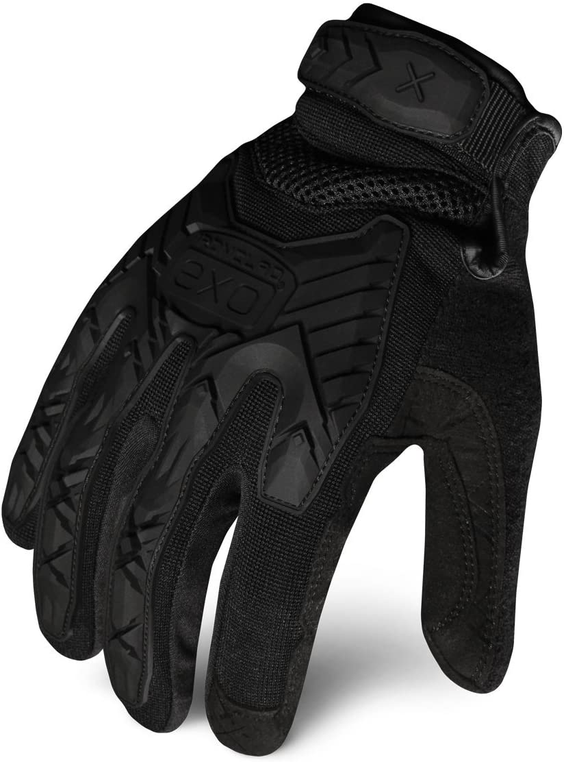 Ironclad EXOT-IBLK-05-XL Tactical Operator Impact Glove, Stealth Black, X-Large