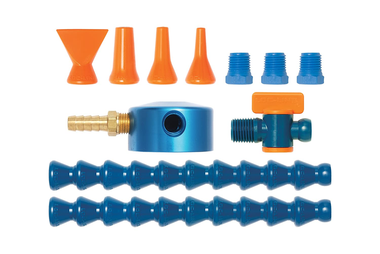 Loc-Line Coolant Hose Magnetic Base Manifold Kit, 12 Piece, 1/4