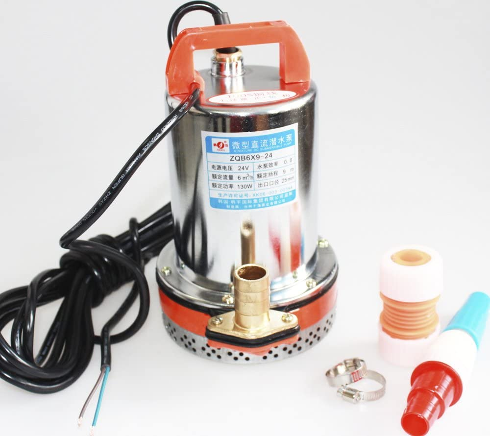 HSH-Flo 12V Farm & Ranch Solar Powered Submersible DC Water Well Pump 23FT Lift