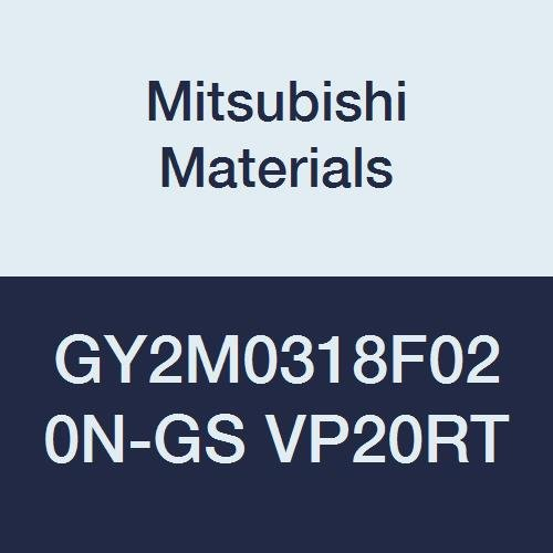 Mitsubishi Materials GY2M0318F020N-GS VP20RT Series GY Carbide Grooving Insert for Grooving/Cutting Off and Low Feeds 2 Teeth, F Seat, 0.125