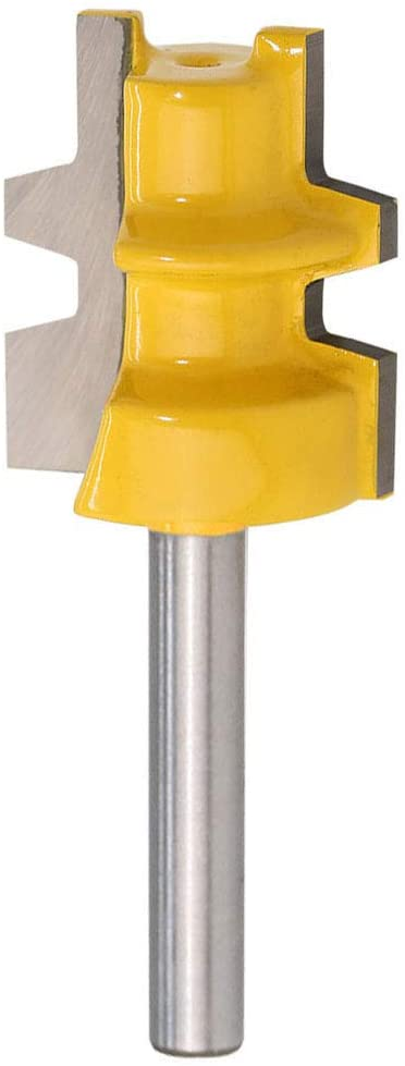 Yakamoz 1/4-Inch Shank Reversible Glue Joint Router Bit with 1-Inch Diameter and 7/16-Inch to 1-1/8-Inch Cutting Length