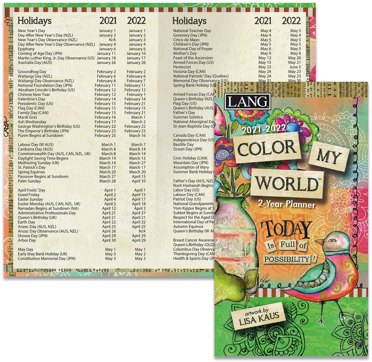 LANG Color My World 2021 Two Year Planner (21991071088)
