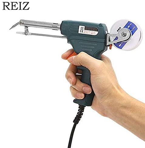 Soldering Occus EU/US 60W Hand-held Internal Heating Soldering Iron Automatic Send Tin Gun Electric Soldering Iron Welding Repair Tool - (Color: EU)