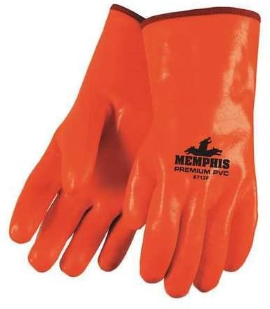Chemical Resistant Gloves, PVC, L, 12