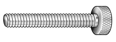 Thumb Screw, Knurled, 1/4-28, STL
