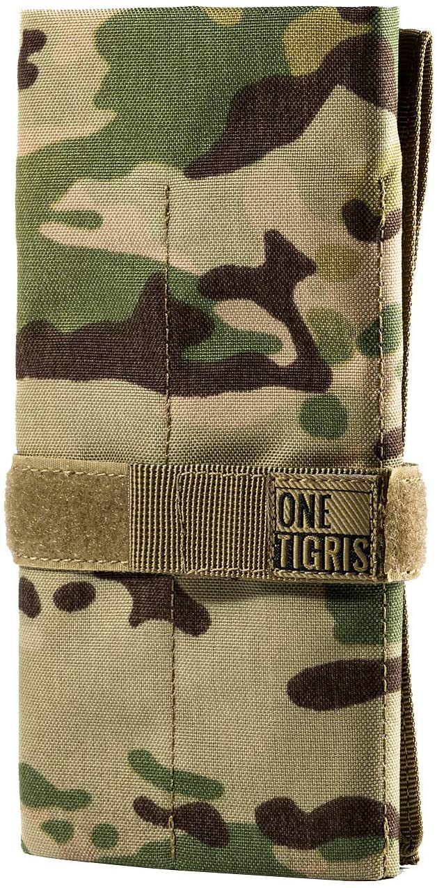 OneTigris Tactical Roll-up Tool Pouch with 12 Pockets - Hand Tool Roll Organizer Storage Bag (Multicam)