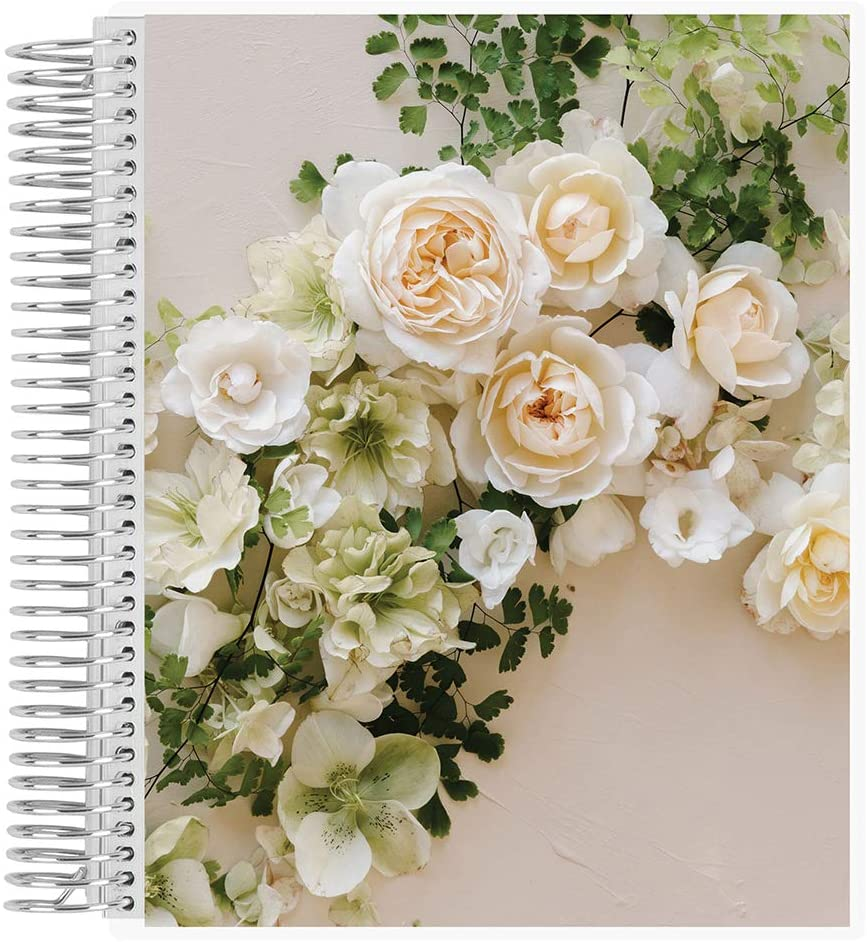Green Wedding Shoes x Erin Condren Undated 12-Month Wedding Planner - Romance - Includes Undated Calendar Spreads, Pre-Hinted Lists, Budget Checklist, Menu Details, Wedding Tips and More