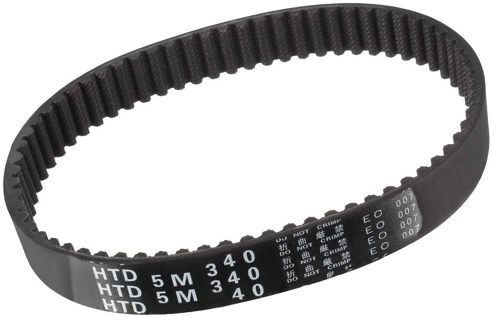 uxcell HTD5M340 Rubber Timing Belt Synchronous Closed Loop Timing Belt Pulleys 15mm Width