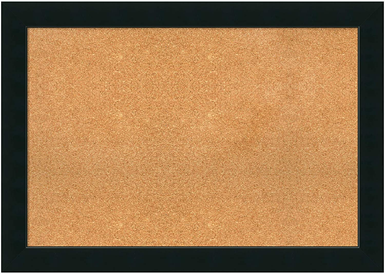 Amanti Art Framed Cork Board Extra Large, Corvino Black 41 x 29-inch