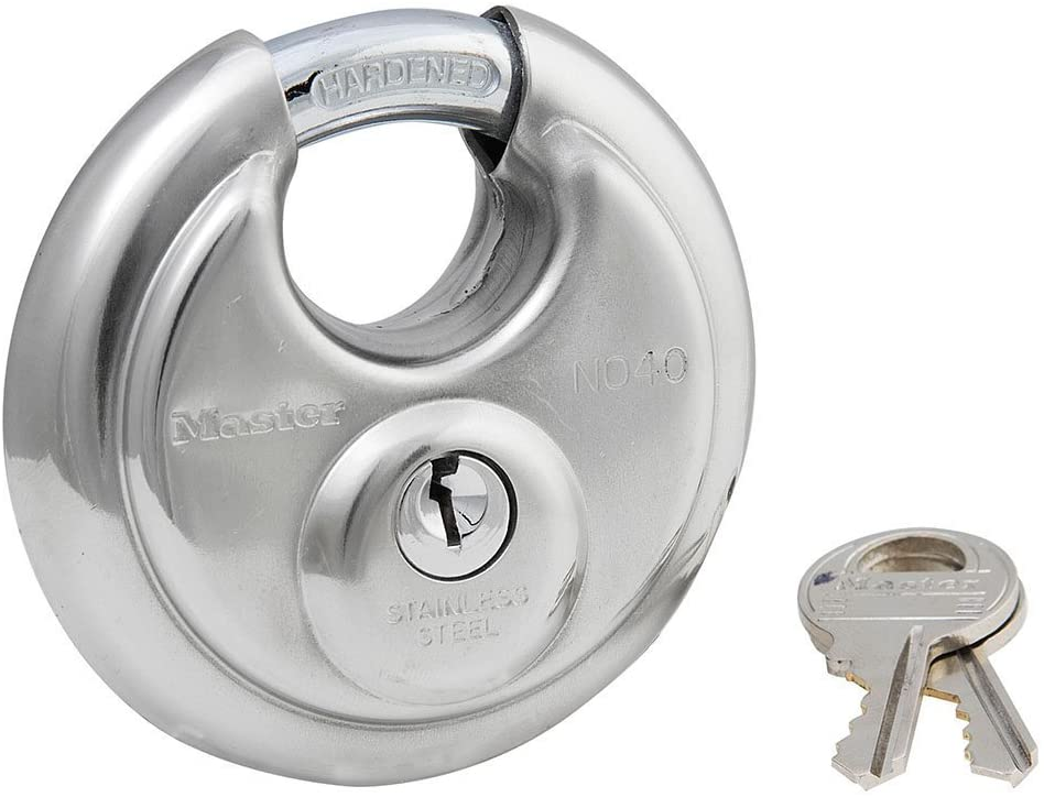 Master Lock 40DPF 12 Pack 2-3/4in. Wide Stainless Steel Discus Padlock