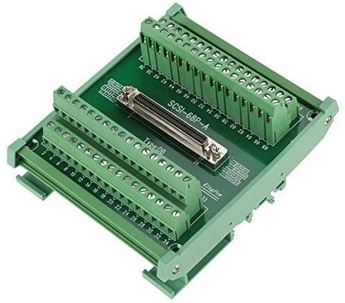 SCSI68 68 pin DB Female connector type Terminal board terminal module, Connector, Terminal block