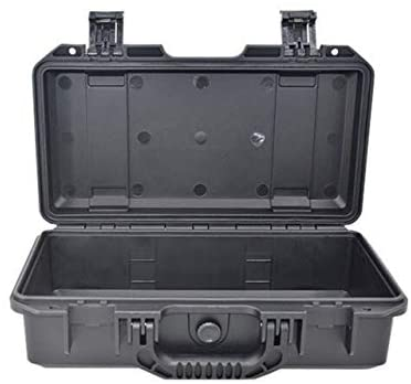 357x225x120mm ABS Sealed Waterproof Safety Toolbox Equipment Instrument Case Portable Tool Box Dry Box Impact Resistant (Color : Empty box, Size : 340x160x113mm)