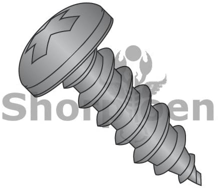 6-20X1/2 Phillips Pan Self Tapping Screw Type A B Fully Threaded Black Oxide - Box Quantity 10000 by Shorpioen BC-0608ABPPB