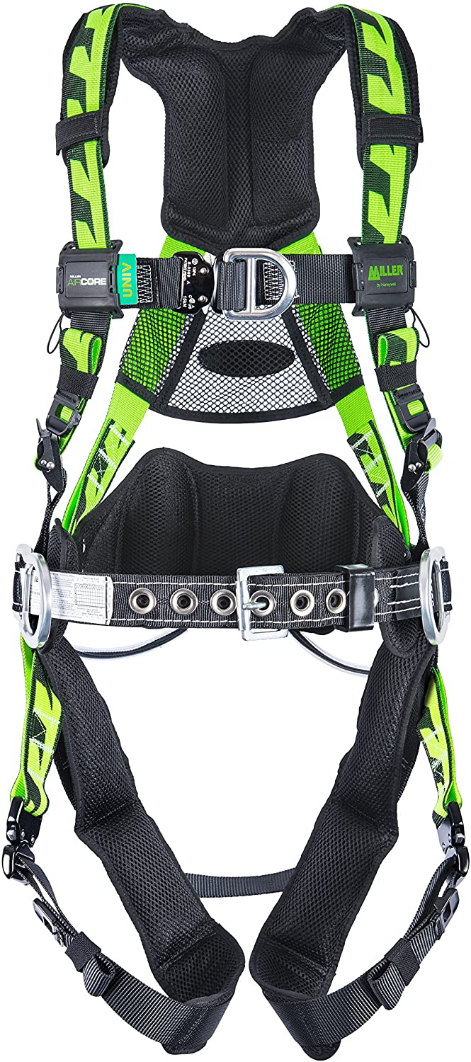 Miller by Honeywell AAT-QCSMG Aircore Tower Climbing Harness with Aluminum Hardware