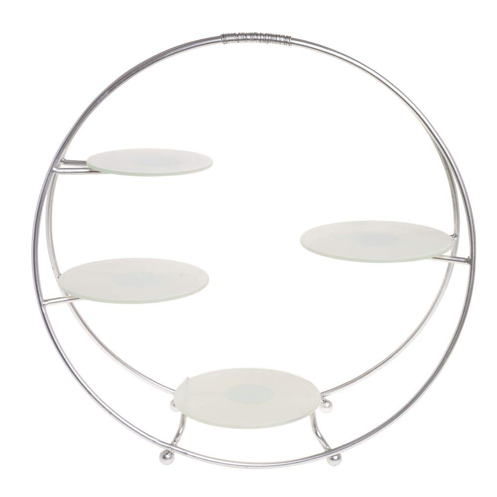 American Metalcraft Silver 4-Tier Round Buffet Stand - 21