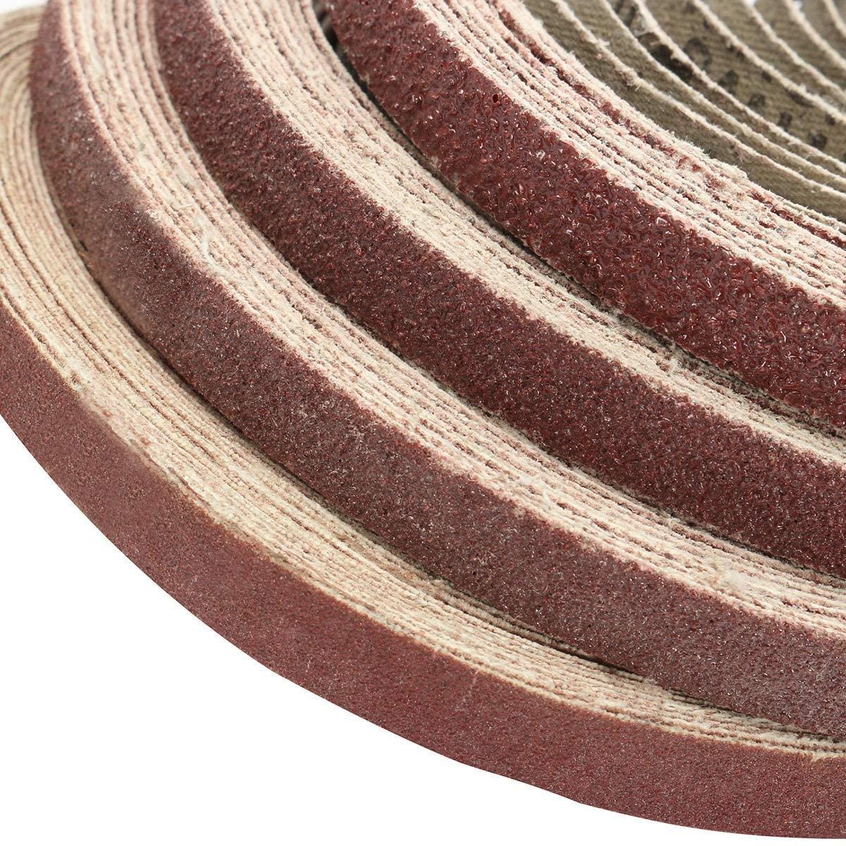 Nuokix 50pcs 10x330mm Zirconia Sanding Belt 40/60/80/120 Grit Aluminium Oxide Abrasive Tools Abrasive (Size : 120#)