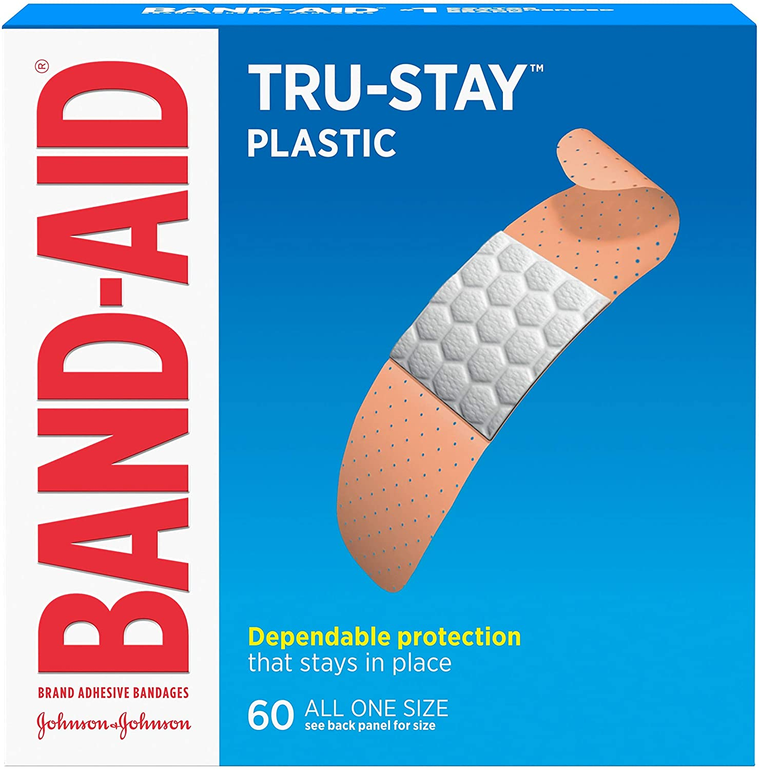 Band-Aid Comfort-Flex Adhesive Bandages-Plastic-60ct, Family Pack