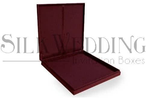 Maroon Silk Invitation Box