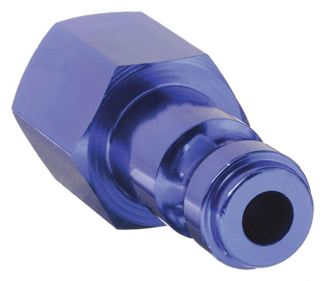 Coupler Plug, (F)NPT, 1/4, Aluminum